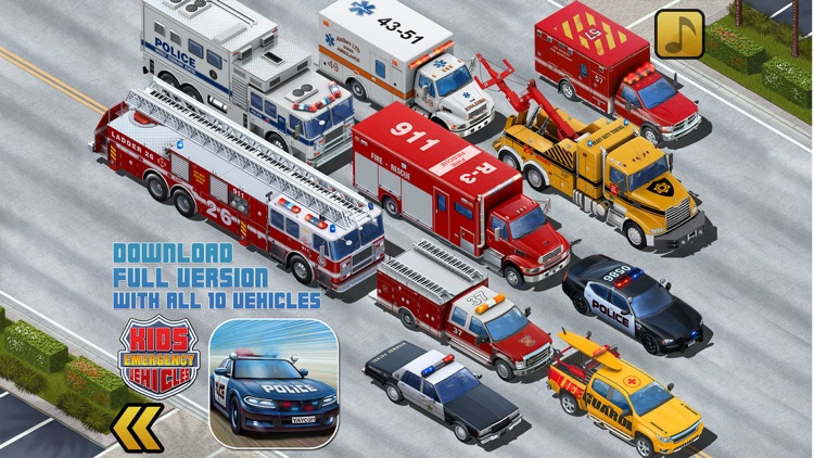 Kids Vehicles Emergency Lite screenshot-4