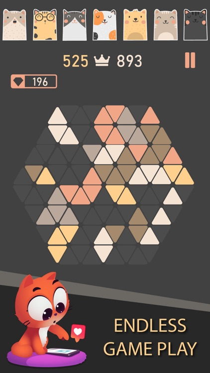 Trigon : Triangle Block Puzzle screenshot-3