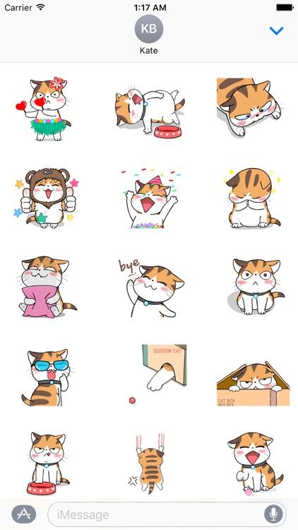 Slack The Lazy Cat Stickers
