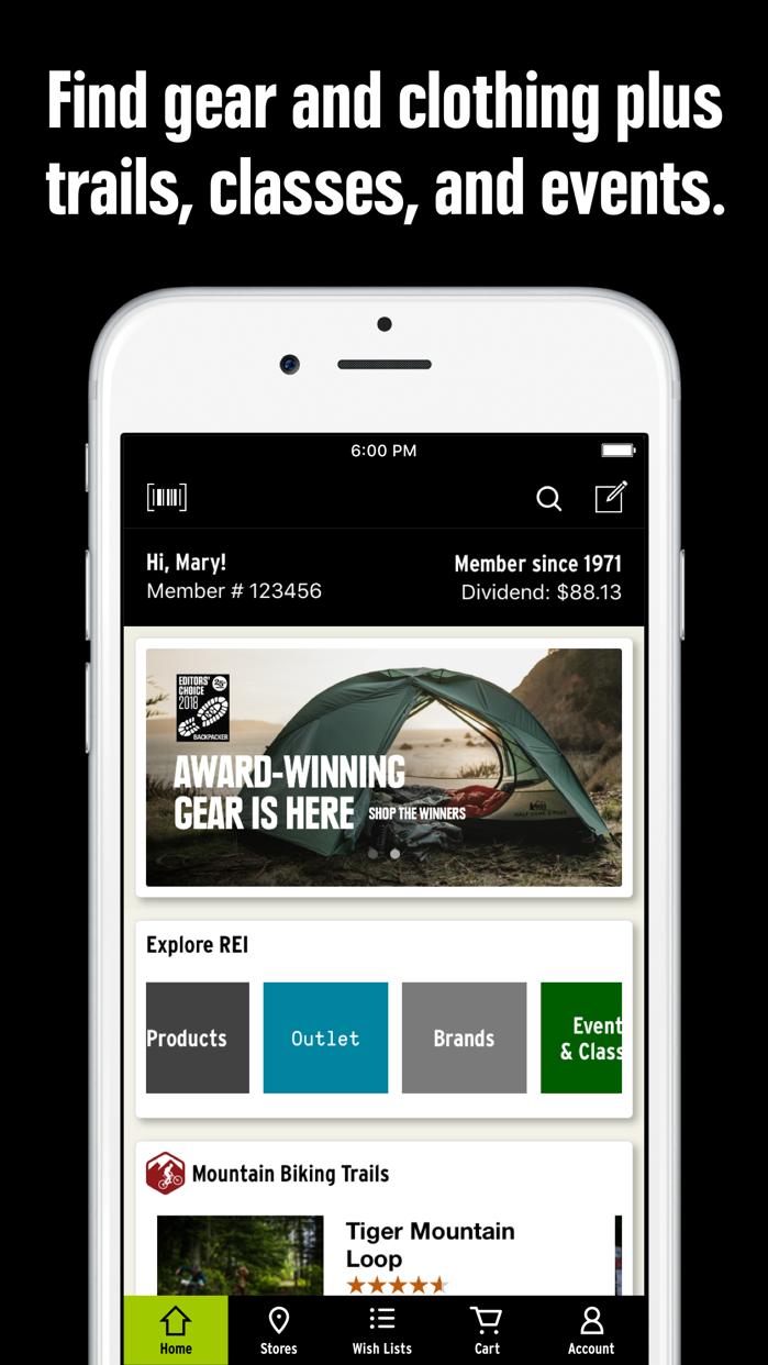 REI – Shop Outdoor Gear Screenshot