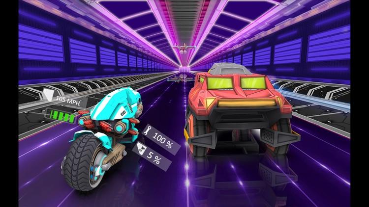 Futuristic Bike Racing Rider