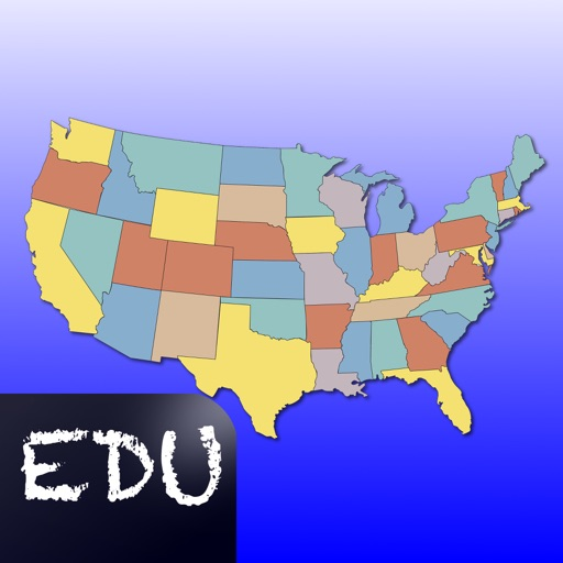 United States Map Quiz Edu Ed. by Peaceful Pencil Ltd., The