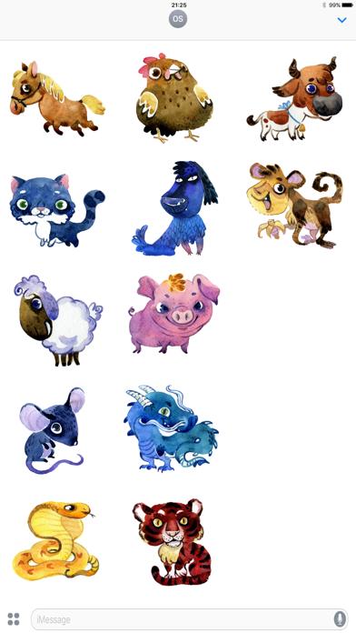 Zodiac Animal Stickers screenshot one