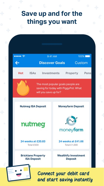 PiggyPot - Save up for your goals