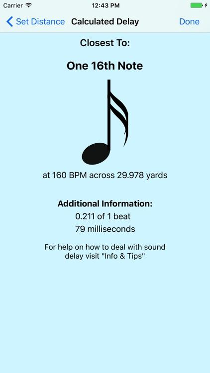 Sound Delay Calculator: Marching Band screenshot-3