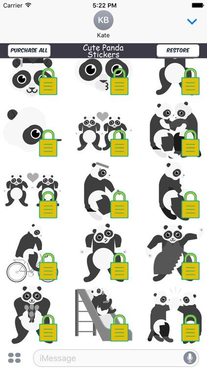 Cute Panda Emoji Stickers screenshot-3