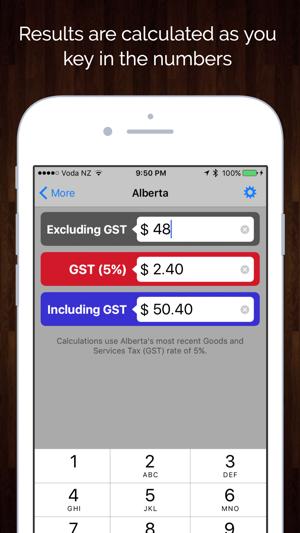 Hst Tax Calculator >> Canada Sales Tax Calculator Gst Hst Pst Qst On The App Store