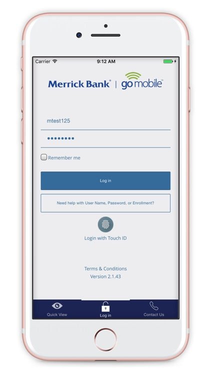 Merrick Bank Mobile screenshot-0