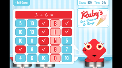 Squeebles Maths Bingo screenshot four