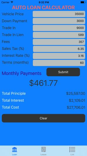 Car Loan Calculator – Auto Loan & Lease Calculator on the App Store