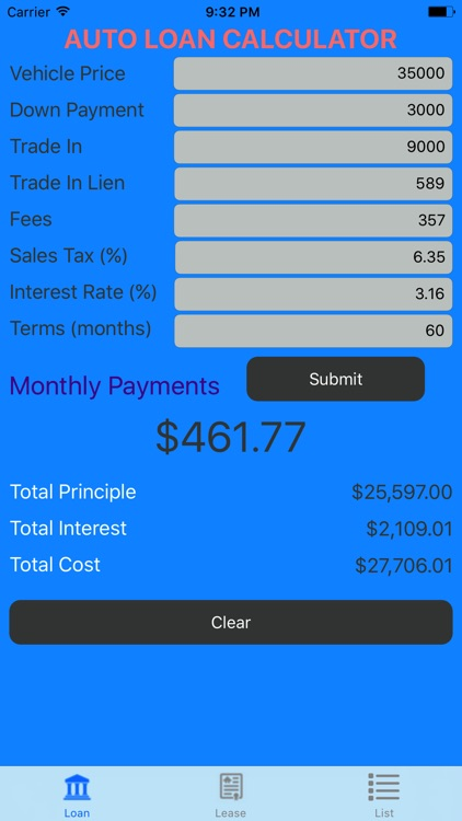 lease calculator auto