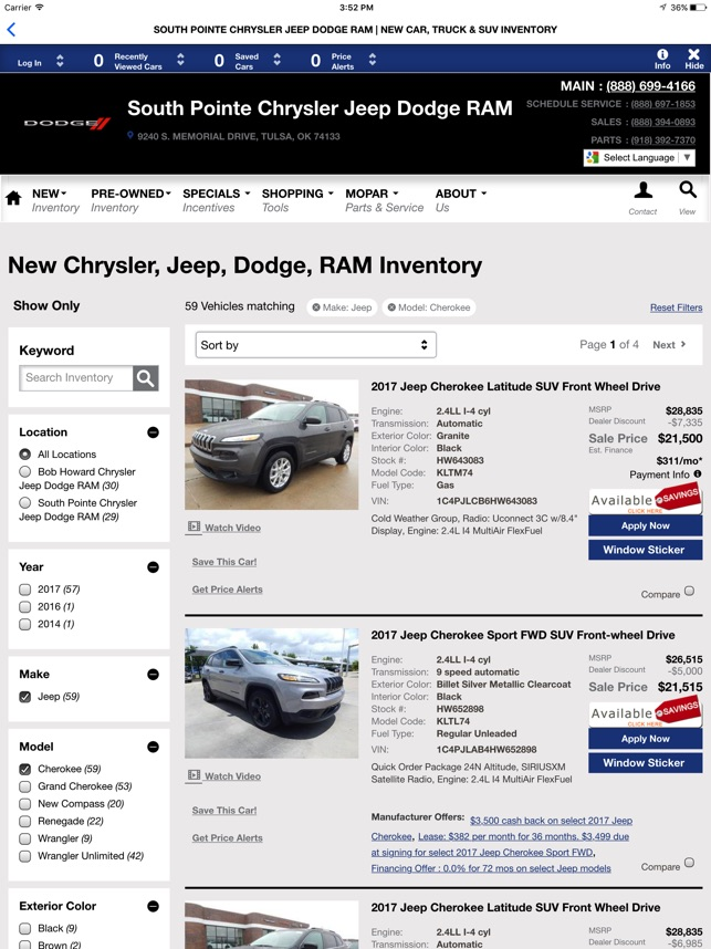 South Pointe Chrysler Jeep Dodge RAM On The App Store