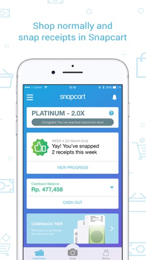 Snapcart: Cashback for Receipt on the App Store