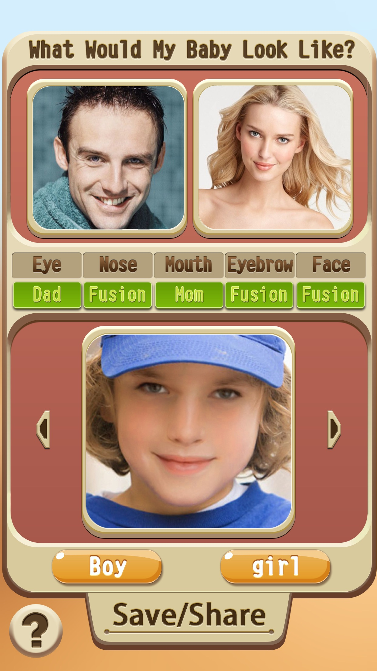 What My Baby Look Like? - Get Old Parent Mix Booth Screenshot