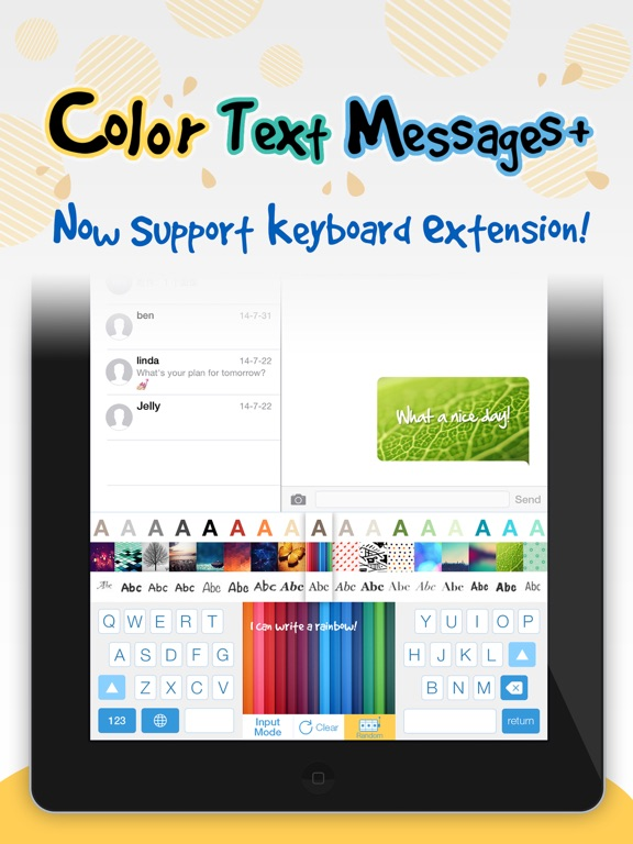 Color Text Messages+ Customize Keyboard Free Now-ipad-0