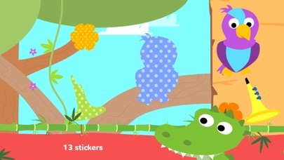 Fun Jungle Animals - Puzzles and Stickers for Kids screenshot three