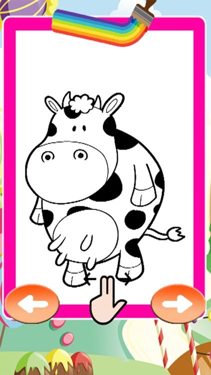 Coloring Book Children Day Drawing Cow by Thana Chumnarnchanarn