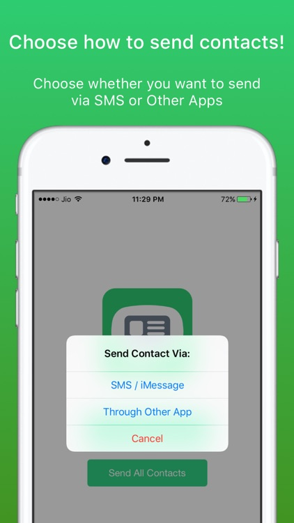 Contacts Via SMS: Send Contacts by SMS