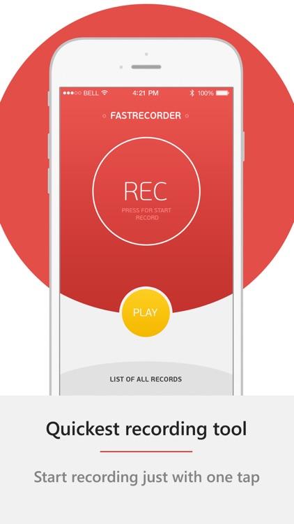 FastRecorder - fastest audio notes recorder.