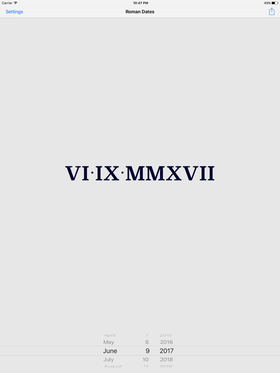 how to read roman numerals dates