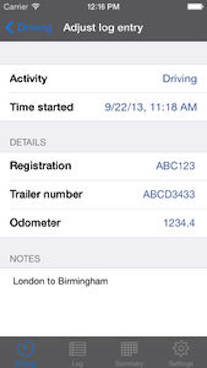 TruckerTimer screenshot-2