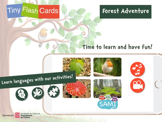 Screenshot #1 for Sami Tiny FlashCards forest adventures kids apps
