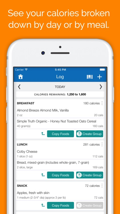 SparkPeople Calorie Tracker