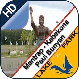 Mantrap Kabekona & Paul Bunyan lake and park trail
