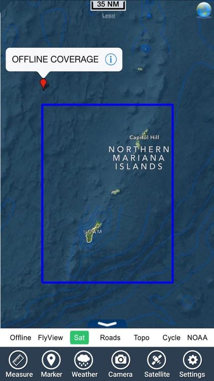 Marine : Guam island HD - GPS Map Navigator screenshot-4