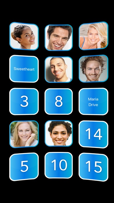 Screenshot #1 pour Quick Fav Dial - manage fast contact favorites
