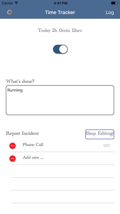 Track Time screenshot one