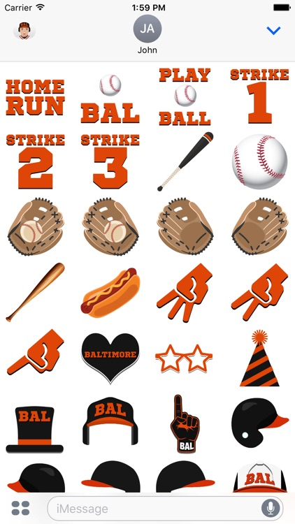 Baltimore Baseball Stickers & Emojis screenshot-3
