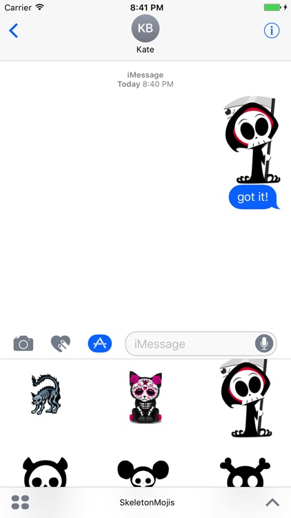 SkeletonMojis - Skeleton Emojis And Stickers