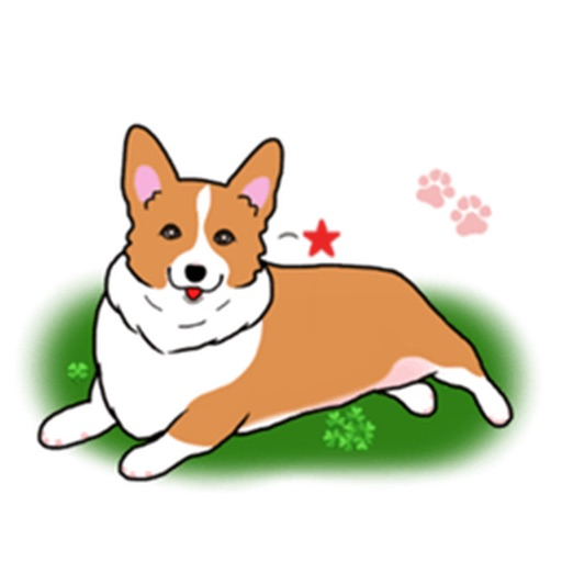 Pembroke Welsh Corgi Dog Emoji Sticker