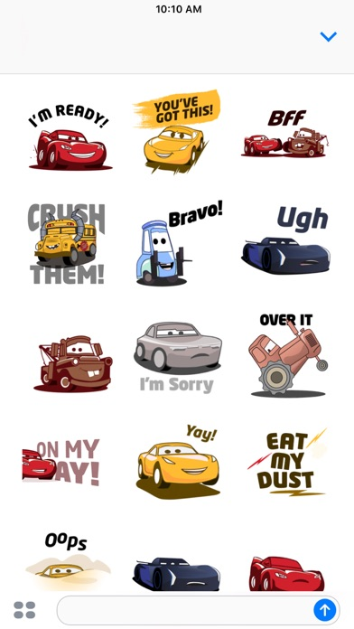 Pixar Stickers: Cars 3