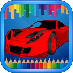 Vehicles Cars Coloring Painting Book Game