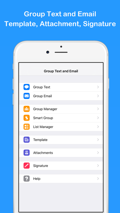 Group Text and Email Pro屏幕截图1