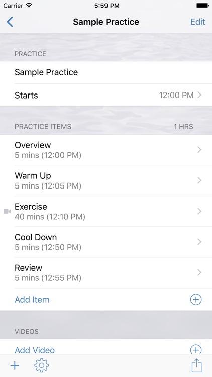 InfiniteSwimming Practice Planner