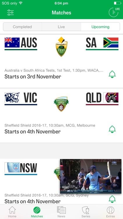 Cricket Australia Live: The Official App screenshot-3