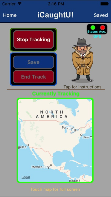 iCaughtU! - GPS Tracker
