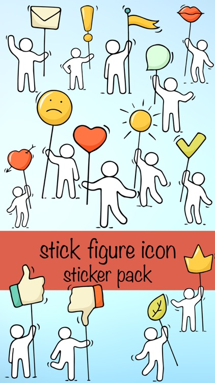 Stick Figure Emoji Icon Sticker Pack screenshot-0