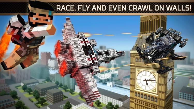 Blocky Cars Online — 3D shooting game screenshot-3