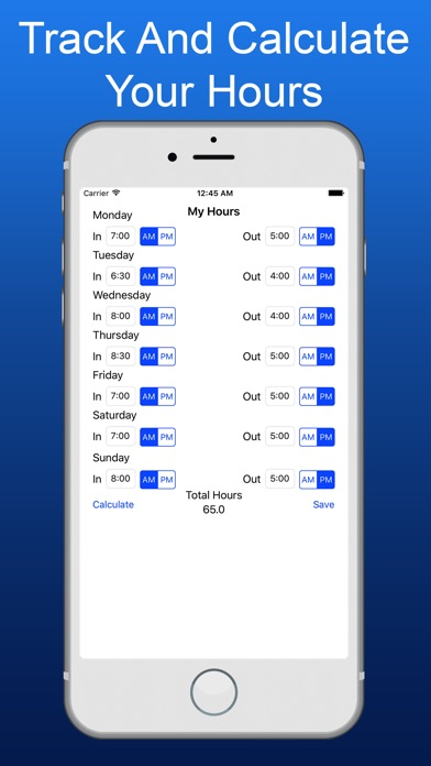 My Hours  Hours Calculator  By Ross Sullivan   App In Payroll