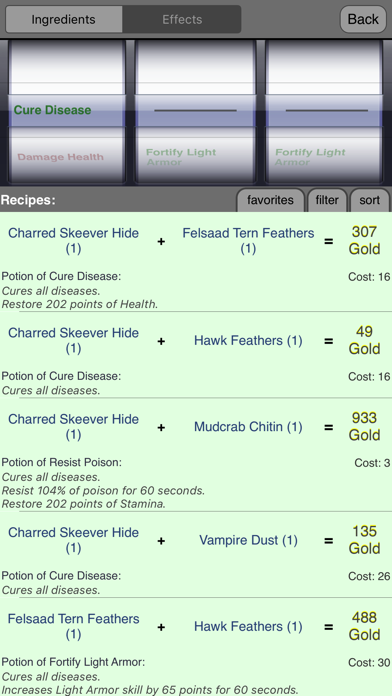 Alchemy for Skyrim ® screenshot two