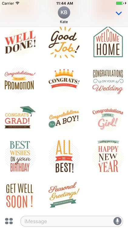 StickerPop Best Wishes