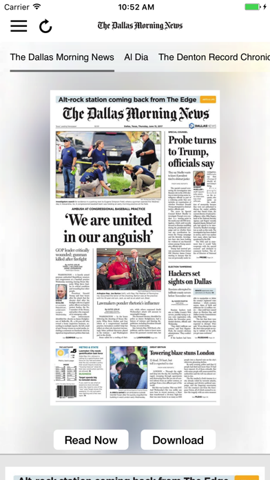 The Dallas Morning News ePaper Screenshot