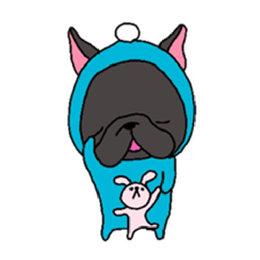 Lovely Black French Bulldog Sticker