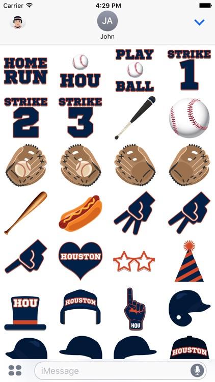 Houston Baseball Emojis & Stickers screenshot-3