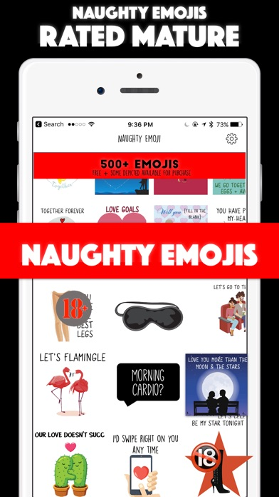 Naughty Emoji - Adult Emojis for Romantic Texting app image