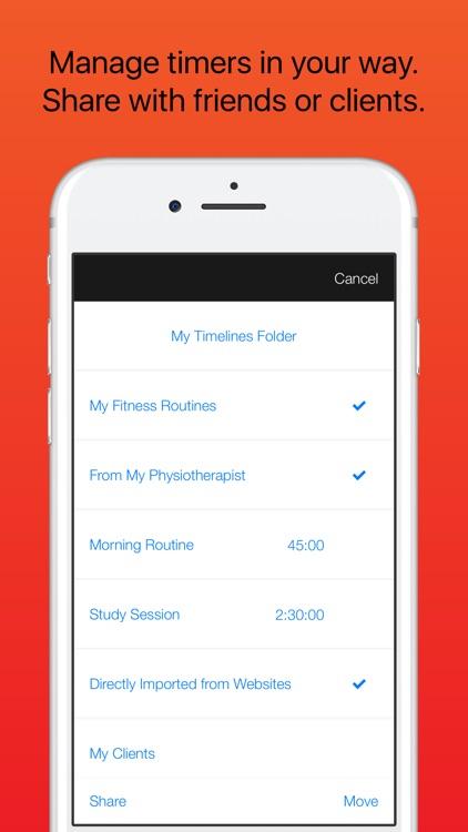 Timeline - Flexible Interval Training Timer screenshot-4